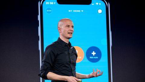 Gründer og daglig leder Edgeir Vårdal Aksnes i Tibber. Bildet er fra et digitalt arrangement selskapet avholdt i 2020.