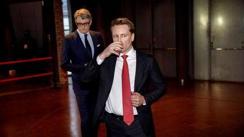 På offensiven: Siden Aker etablerte Aker Horizons har selskapet kunngjort flere oppkjøp og nye satsinger innen fornybar energi. Selskapet ledes av Kjell Inge Røkkes sønn Kristian Røkke, mens Aker-sjef Øyvind Eriksen (bak) er styreleder i Aker Horizons.