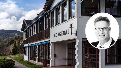 Tradisjonsrike Morgedal hotell i Telemark var et av hotellene Halstein Sjølie (innfelt) overtok uten å gjøre opp regning.