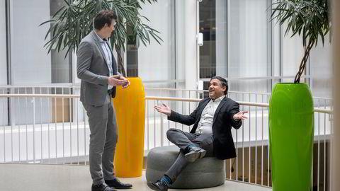Fra kontorene i Forskningsparken har Petter Risøe og Soheil Dabestani tatt steg for steg med gründerselskapet Diffia. Begge har bred erfaring fra helsevesenet.