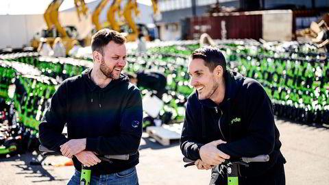 Espen Rønneberg (til venstre) og Johan Olovsson i Ryde får nye eiere. De to fungerer begge som daglig leder i selskapet.