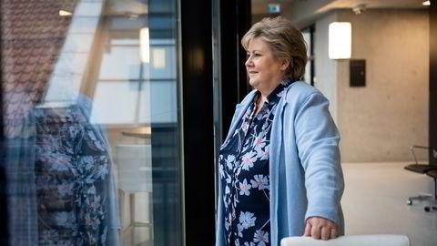 Statsminister Erna Solberg skal delta på et digitalt toppmøte i FNs sikkerhetsråd tirsdag. Klima og sikkerhet er tema.