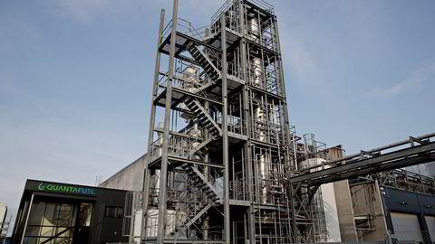 Selskapet som har størst underskudd på bunnlinjen er plastgjenvinningsselskapet Quantafuel. Her fra selskapets anlegg i Skive i Danmark.