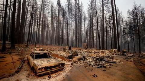 Ekstremvær skremmer, og som fører til massive branner som her i California i august.