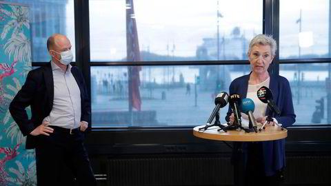 NHO-sjef Ole Erik Almlid og LO-leder Peggy Hessen Følsvik måtte ha hjelp av riksmegler i årets lønnsoppgjør. Søndag bør det være klart om storstreik er avverget.