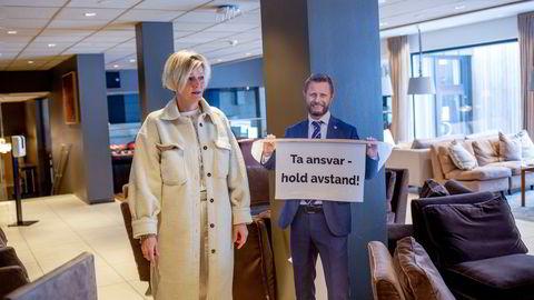 Eier av Sundvolden Hotell Cecilie Laeskogen har hatt tomme rom og møtesaler siden november. Nå ønsker hun å utvide tilbudet ut mot privatmarkedet.