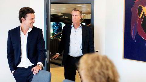 Ferds konsernsjef Morten Borge (til venstre) og eier Johan H. Andresen.