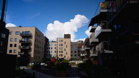 Meglerne venter at boligprisveksten skal flate ut utover høsten. Frysjaparken på Kjelsås er et av boligprosjektene som bygges ut av Obos.