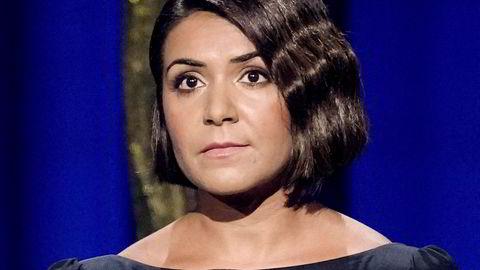 Oslo 20210722. Programleder er Rima Iraki under det nasjonale minnearrangementet i Oslo Spektrum, 10 år etter terrorangrepet 22. Juli 2011. Foto: Fredrik Hagen / NTB / POOL