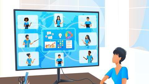 De fleste medarbeidere kommer ikke til å jobbe fra hjemmekontor hele tiden eller samtidig. Stadig flere møter vil bli hybride ved at noen deltar fysisk og andre digitalt, skriver artikkelforfatteren.