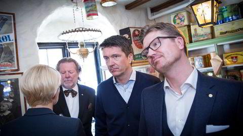 Fra venstre: Odd, Ole Robert og Magnus Reitan.