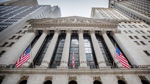 Mer enn halvparten av overskuddene i USA havner nå hos de børsnoterte selskapene, skriver Finn Øystein Bergh. Bildet: New York Stock Exchange på Wall Street i New York.