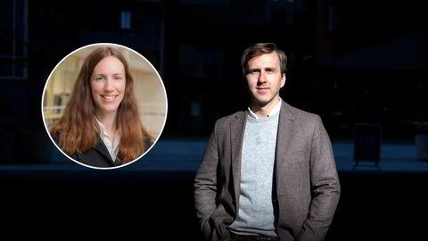 Renteforvalter Mariann Stoltenberg Lind i Odin Kapitalforvaltning (tv) og kredittstrateg Ole André Kjennerud i DNB Markets.