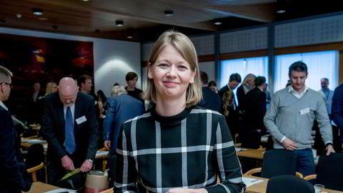 – Jeg skal være veldig forsiktig med å spå om utviklingen, men kryptovaluta der vi står nå har en nokså beskjeden rolle i betalingssystemet, sier visesentralbank Ida Wolden Bache.