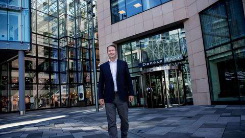 Trond F. Mellingsæter, administrerende direktør i Danske Bank Norge, legger frem resultater for andre kvartal.