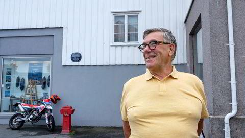 Investor og styreleder i Orkla Stein Erik Hagen ferierer på sin sommerhytte i Kragerø.