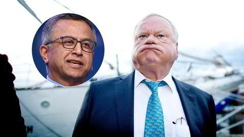 Seadrill-eier John Fredriksen og SVP-sjef Victor Khosla (innfelt).
