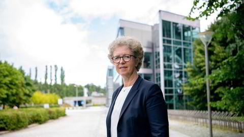 Konsernsjef Hilde Merete Aasheim i Norsk Hydro. Selskapet la frem resultater for første kvartal tirsdag.