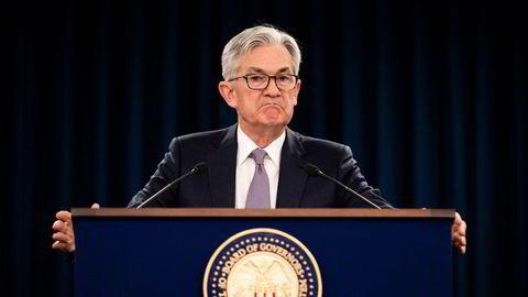 Hva om inflasjonen jekker seg enda høyere, eller bruker lengre tid enn ventet på å normaliseres igjen, spør Finn Øystein Bergh. Bildet: USAs sentralbanksjef Jerome Powell.