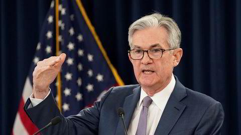 Sentralbanksjefen i den amerikanske sentralbanken Jerome Powell la frem sin rentebeslutning onsdag kveld.