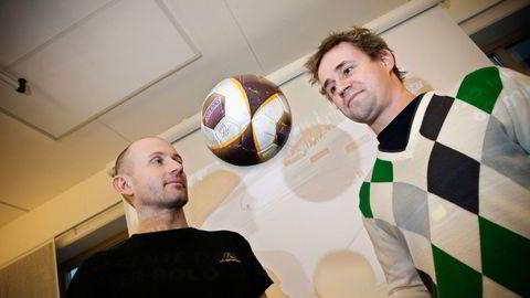 Ivar Arnesen (til venstre) og Petter Fornæss sitter igjen med milliardgevinst etter å ha solgt seg ut av Sportradar.