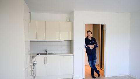 Boligprisene i Oslo har steget nær 90 prosent siden Ole Petter Høkeli i 2012 kjøpte leiligheten han nå leier ut på Kringsjå.