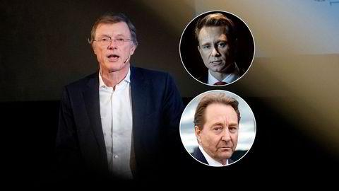 Peter Hermanrud, sjefstrateg i Sparebank 1 Markets, tror Aker vil komme med flere initiativer for å etablere vindsatsing på land til tross for at oppkjøpet av NBT gikk i vasken. Kristian og Kjell Inge Røkke innfelt.