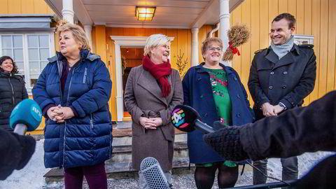 De fire partilederne la i januar 2019 frem regjeringsplattformen som ble forhandlet frem på Granavolden. Der sto det ikke noe om endring av oljeskatten.