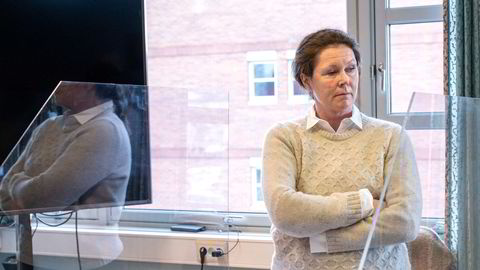 Princess-arving Hanne Madsen i lagmannsretten i Skien.