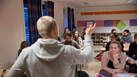 Fasiten viser at undervisningspersonell hadde en lønnsvekst på 1,2 prosent i fjor, skriver Erik Orskaug. Illustrasjonsfoto.
