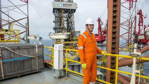 Maersk Drilling-sjef Jørn Madsen vil spille en rolle i konsolideringen av riggbransjen, men understreker at det ikke blir noen spekulative oppkjøp – eller «lottokuponger.» Her om bord den oppjekkbare riggen Maersk Invincible på Valhall-feltet helt sør på norsk sokkel i oktober 2019.