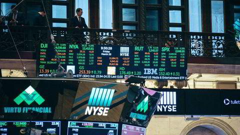 Nasdaq-indeksen falt nær tre prosent tirsdag. Her arkivfoto fra Wall Street.