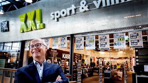 XXL-sjef Pål Wibe er ikke fornøyd med salgs- og markedsandelutviklingen og vil skjerpe kampanjeaktivitetene fremover.