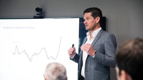 Sjeføkonom Kjetil Olsen i Nordea Markets legger onsdag frem nye prognoser for norsk økonomi.