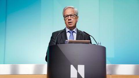 Sentralbanksjef Øystein Olsen legger torsdag frem Norges Banks rentebeslutning.