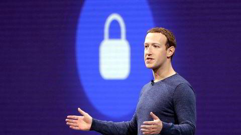 Facebook-gründer og toppsjef Mark Zuckerberg, her fra en selskapspresentasjon i 2018.