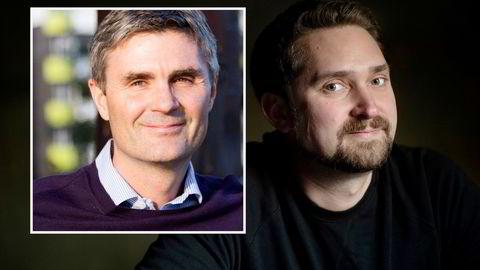 Cognite-sjef John Markus Lervik (innfelt) og Oda-sjef Karl Munthe-Kaas har vært med å gründe hvert sitt selskap verdsatt til mer enn én milliard dollar i såkalte venturetransaksjoner.
