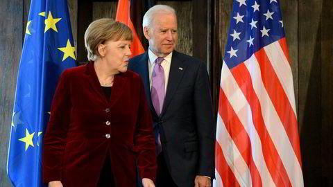 Tysklands kansler Angela Merkel fant ut av det med Joe Biden da han var visepresident under Barack Obama fra 2009 til 2017. Nå kan Merkel løse opp stemningen med Biden som USAs president.