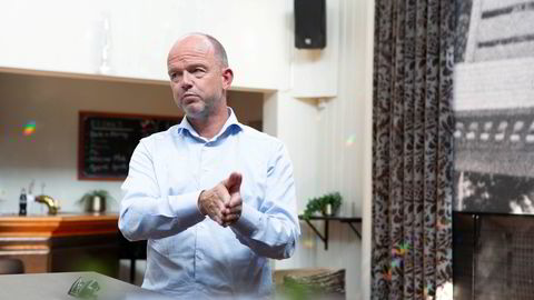 NHO-sjef Ole Erik Almlid under omvisning på et tomt Hotell Leangkollen i Asker tidligere i år.