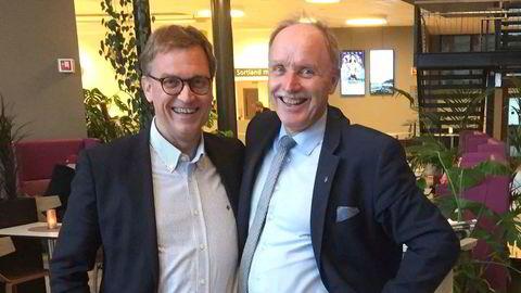 Kristian Adolfsen (til venstre) og Bø-ordfører Sture Pedersen har kjent hverandre i åtte år.