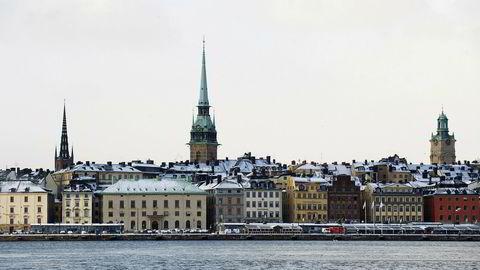 Sverige er én av flere aktuelle møteplasser for presidentene i USA og Nor-Korea, hvis Kim Jong-un er villig til å forlate Nord-Korea. Bildet er fra Gamla Stan i Stockholm.