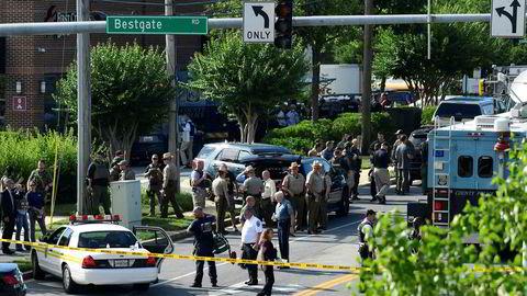Avisen The Capital Gazette ble utsatt for et angrep torsdag. Fem mennesker døde.