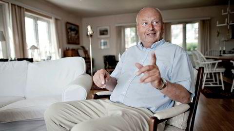 Avisinvestor Odd Reidar Øie (61) har bygget seg opp en formue ved å investere i små lokalaviser. Her er han i huset sitt på Snarøya i 2011.