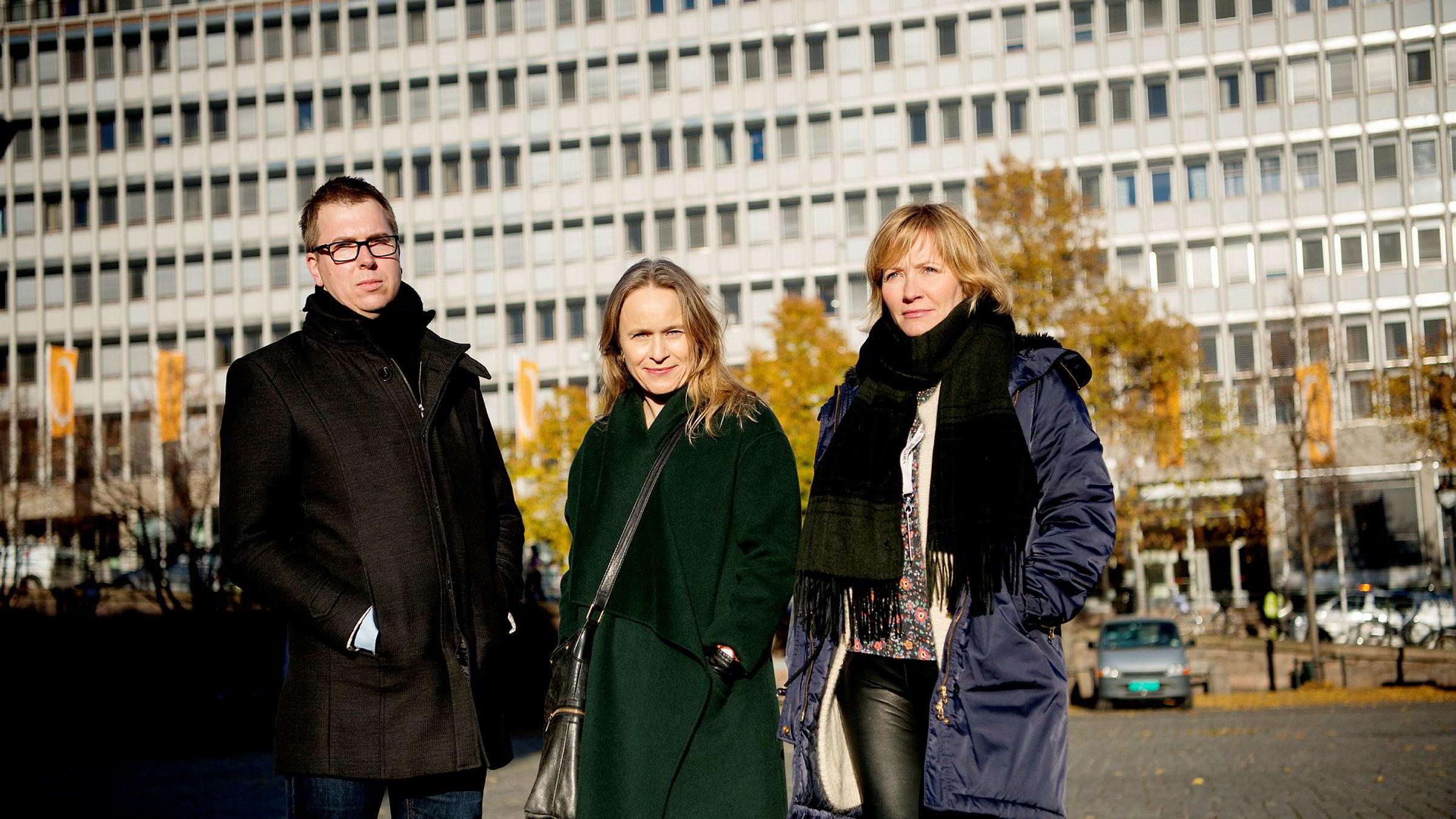Sjefredaktør Eirik Hoff Lysholm i Dagsavisen, sjefredakøtr Irene Halvorsen i Nationen og sjefredaktør Åshild Mathisen i Vårt Land er alle blant dem som innkasserer mest i pressestøtte i år.