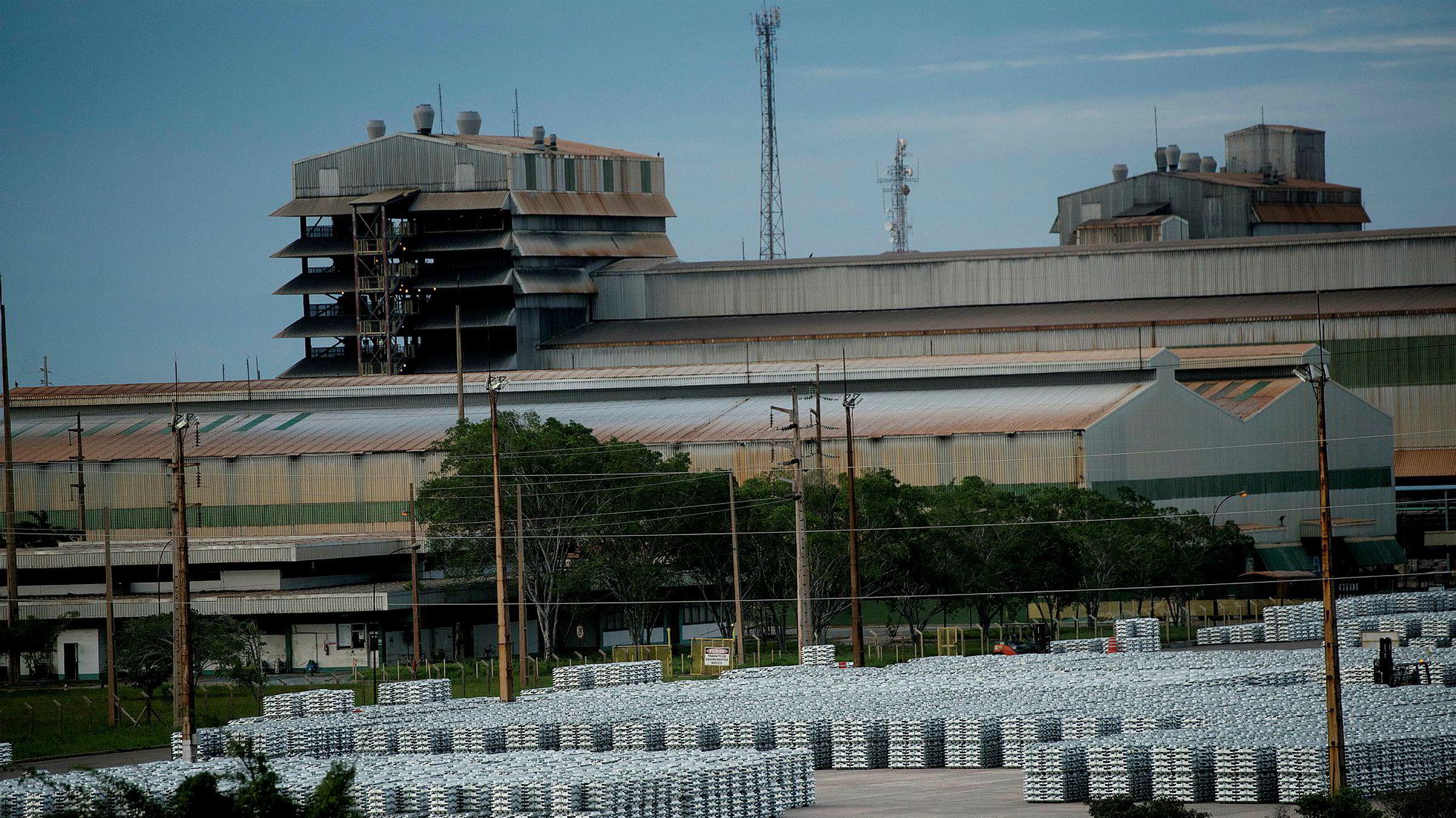 Hydros Albras-anlegg ved Alunorte i Brasil.