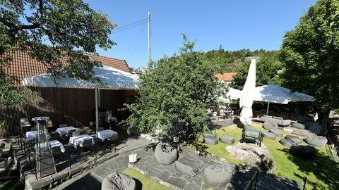 Frodig. Det er lett å nyte den norske sommeren på Tollboden Bakhagen i Kragerø