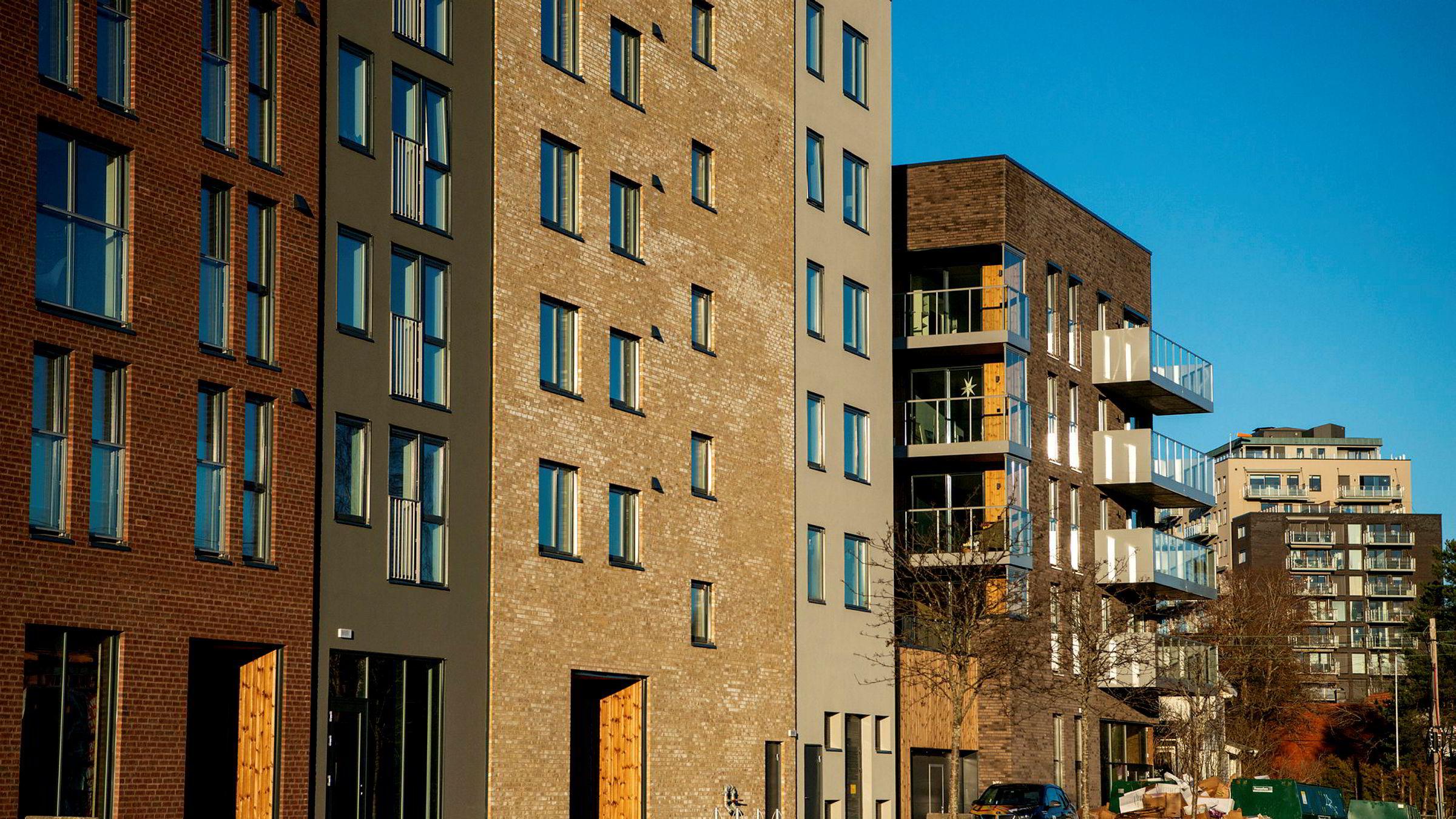 Mens SSB og Norges Bank venter fallende boligpriser, aner seniorøkonom Kjell Senneset i Prognosesenteret «konturene av en ganske stor gruppe, som potensielt representerer nok etterspørsel til å holde prisene oppe hele 2020». Disse boligene ligger på Frysja i Oslo.