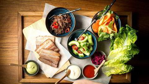 Kokk Heidi Bjerkan ved restaurant Credo lager enkle retter med asiatisk og nordisk vri. Denne uken: Hjertesalat med tacovri.