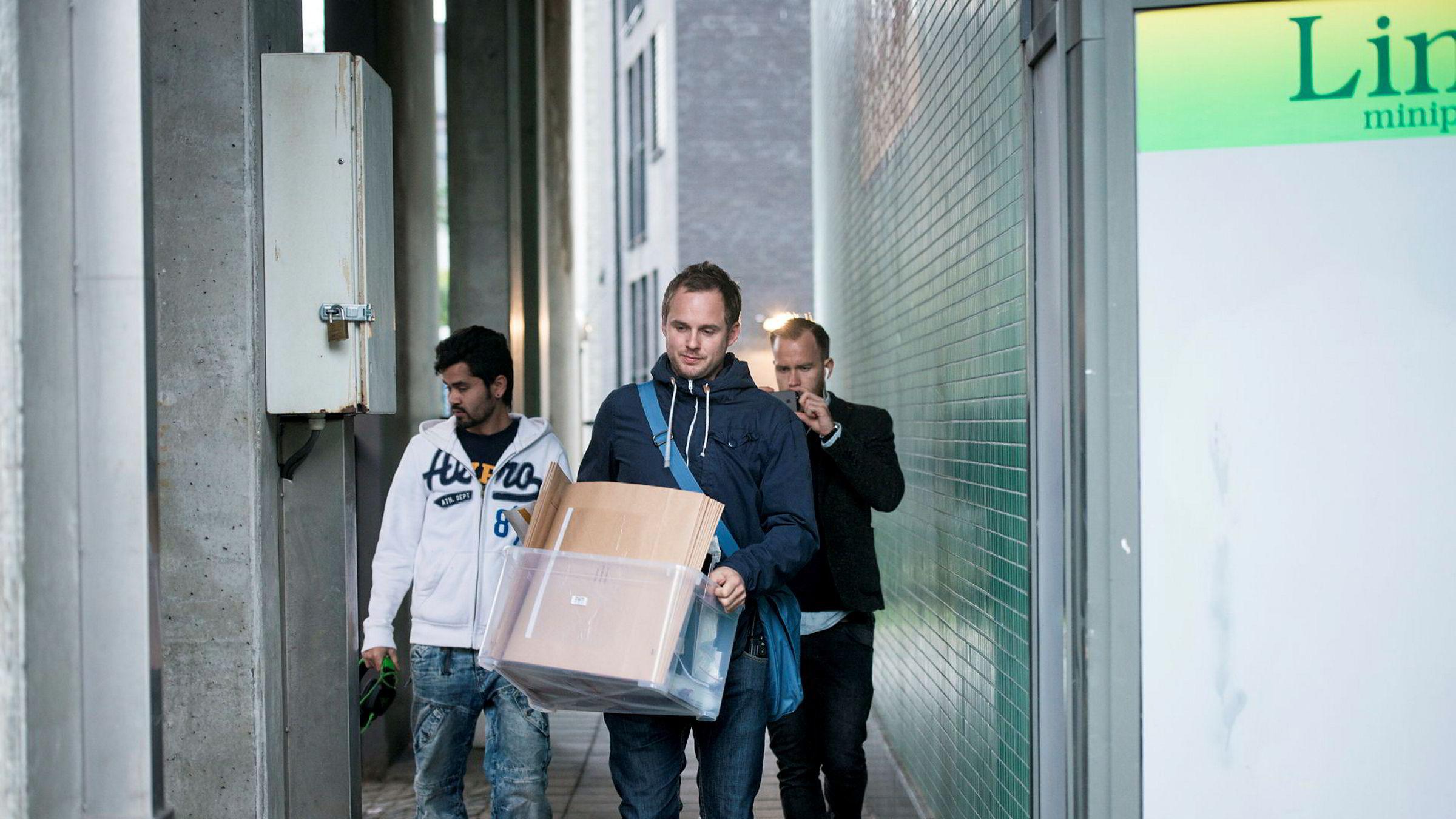 Her slo politiet til mot hovedkontoret til Lime på Tøyen i 2014.