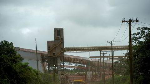 Fra Hydros aluminaraffineri Alunorte i delstaten Pará i Brasil. Bildet ble tatt i 2018.